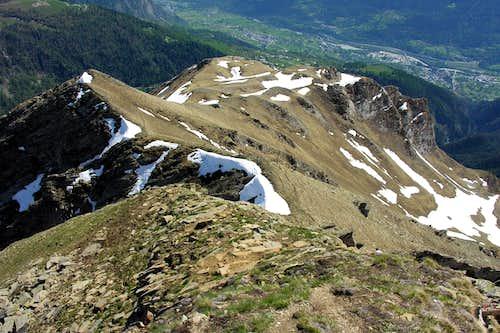Nera di Planavalle Descent to Bec Aoulié