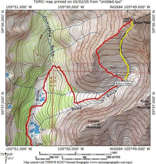 Grays Peak's Southwest Ridge...