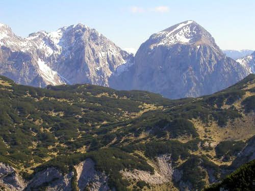 Turska gora (left) and Brana...