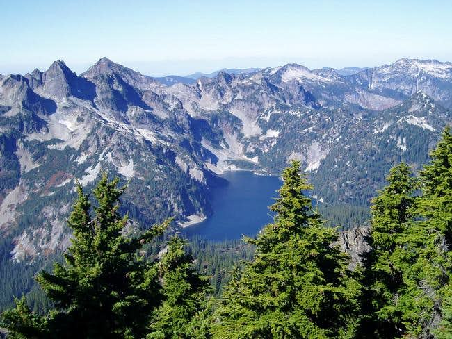 Snow Lake as viewed from the...