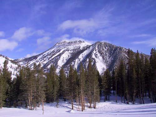 Morning light shines on Mt...