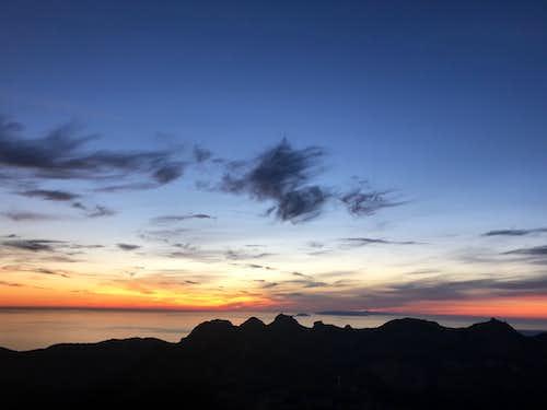 Sunset over Boney