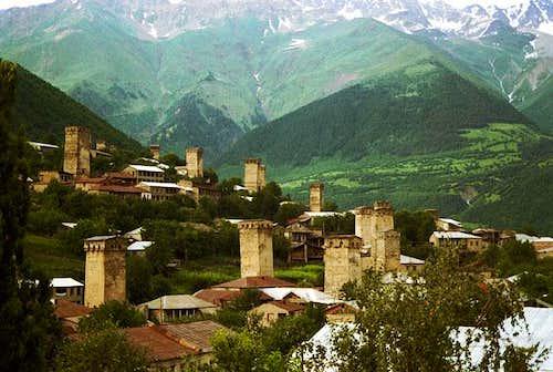 Panoram of Mestia - capital...