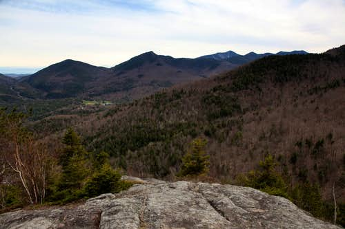 View from Snow Mountain's southern ledge