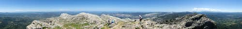 360° summit panorama Monte Corrasi