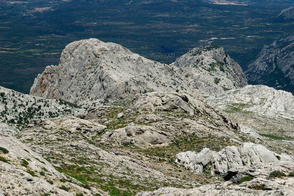 Punta Cusidore and Bruncu Nieddu