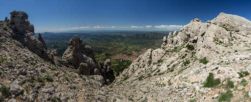 Saddle view towards Oliena