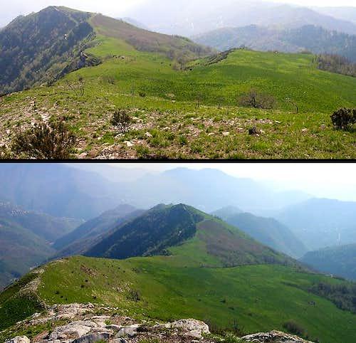 Panoramic views along the path from San Martino di Struppa to Alpesisa