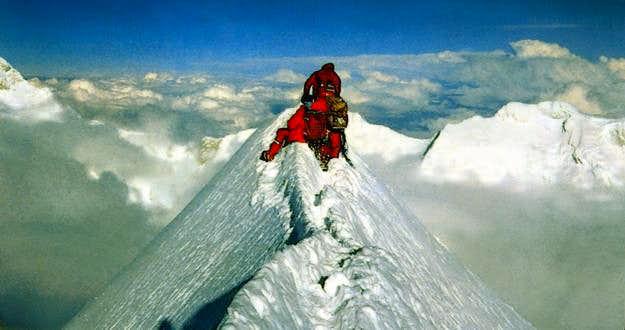 The summit of mount Jannu...
