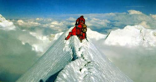 The summit of mount Jannu...