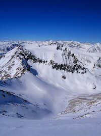 Diamond Peak from the summit...
