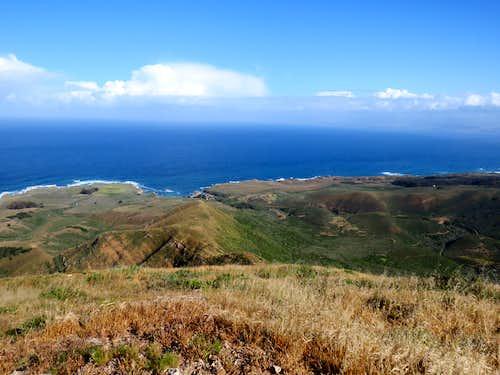 Pacific Ocean from top of Valencia Peak
