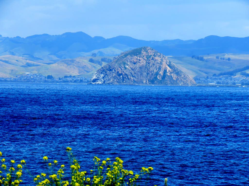 Zoomed view of Morro Rock