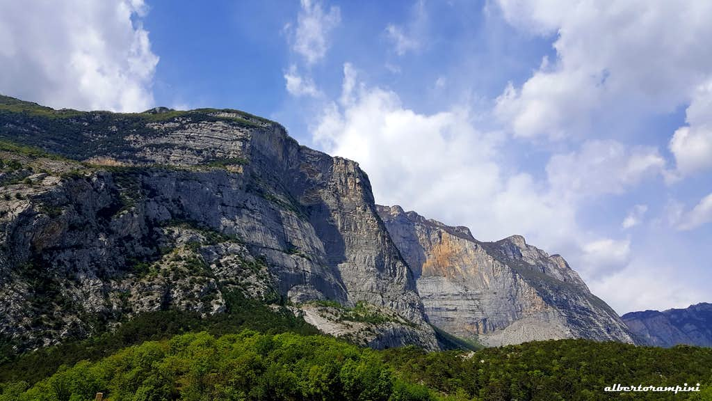 The high walls of Cima alle Coste and Monte Brento