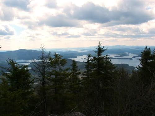 View of the Squam Lake while...
