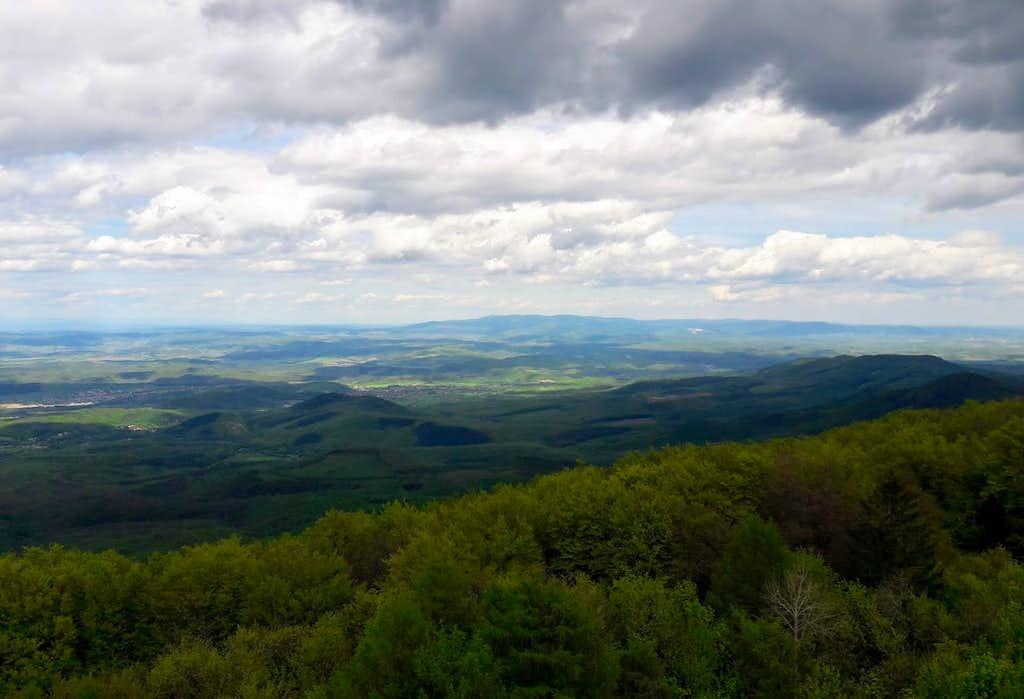 The hilly landscape of Mátra