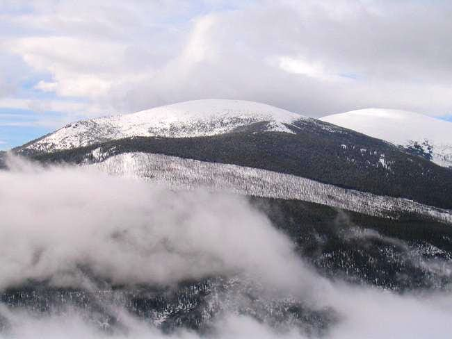 Meadow Mountain (left) and St...