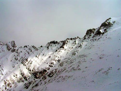 The northwest ridge of...
