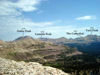 Several high peaks seen from...