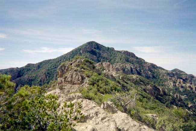 A view of Bassett Peak, as...