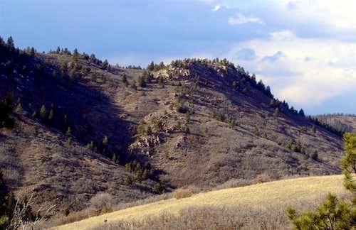 Carpenter Peak in late winter...