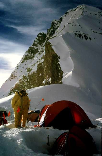 Everest's North Col 7000m....