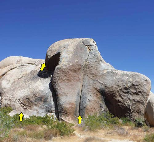 Stirrup Rock, 5.6-5.12b