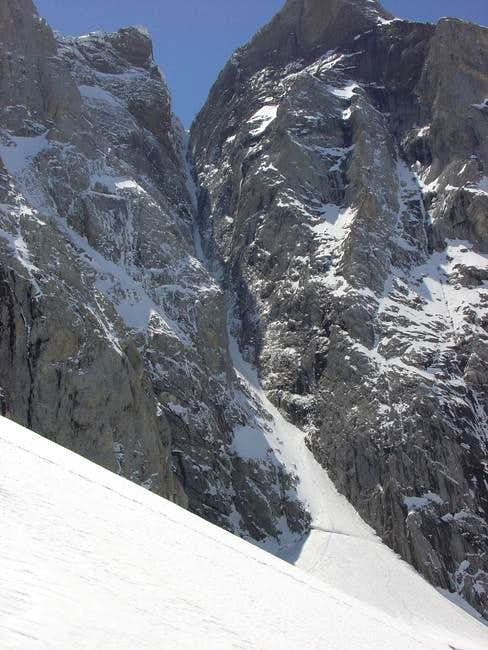 The Couloir from the descend...