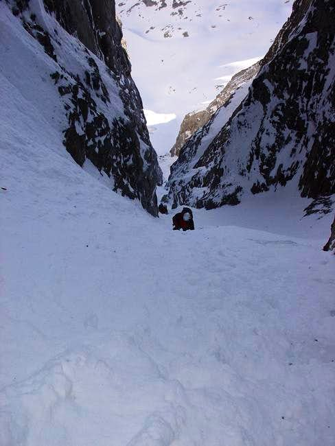 The Couloir viewed from under...