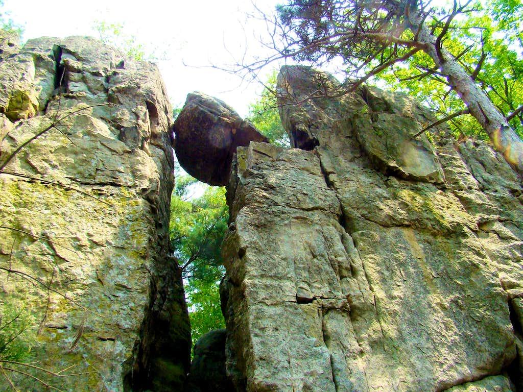 Castle Mound Balanced Rock