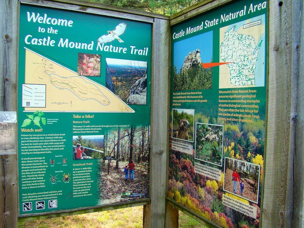 Castle Mound Trailhead Sign