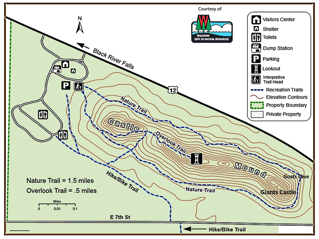 Castle Mound Map