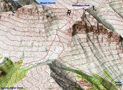Map of the ascent route with...