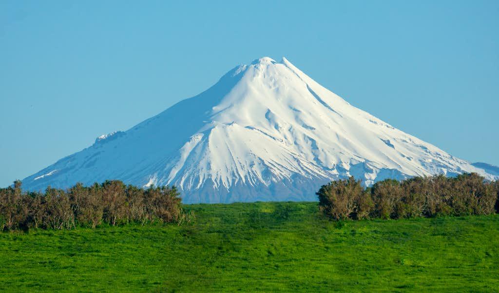 Mount Taranaki with her White Coat