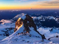 Sunrise on Mount Rainier, Fuhrer Finger Route