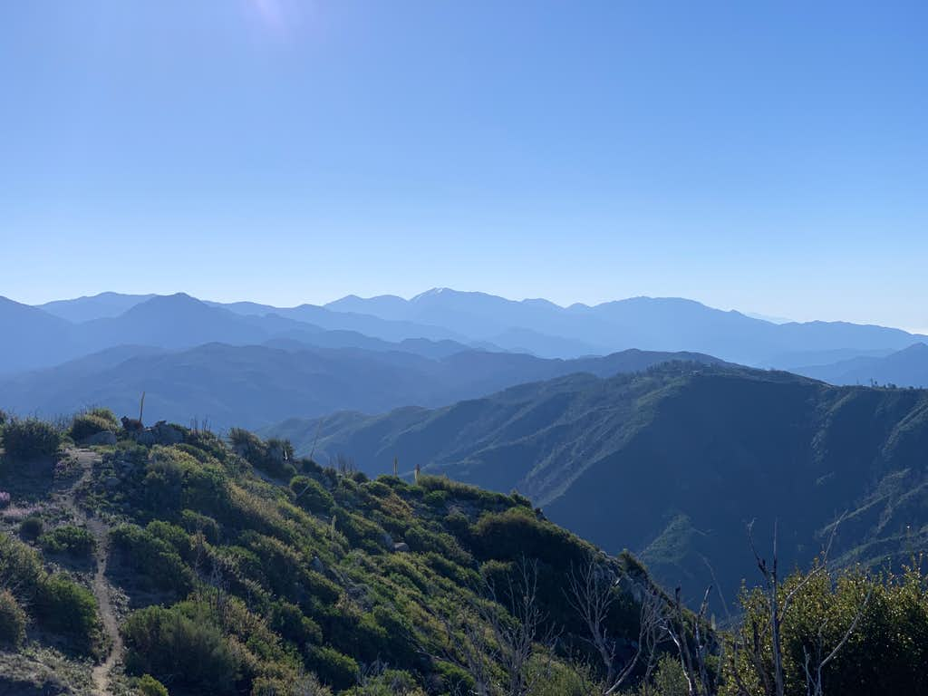 High Peaks in Angeles National Forest As Seen From Strawberry Peak