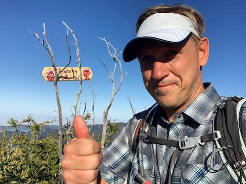 Cris Hazzard on Strawberry Peak