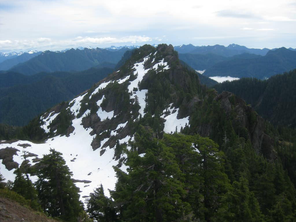 Colonel Bob's eastern summits from lookout summit