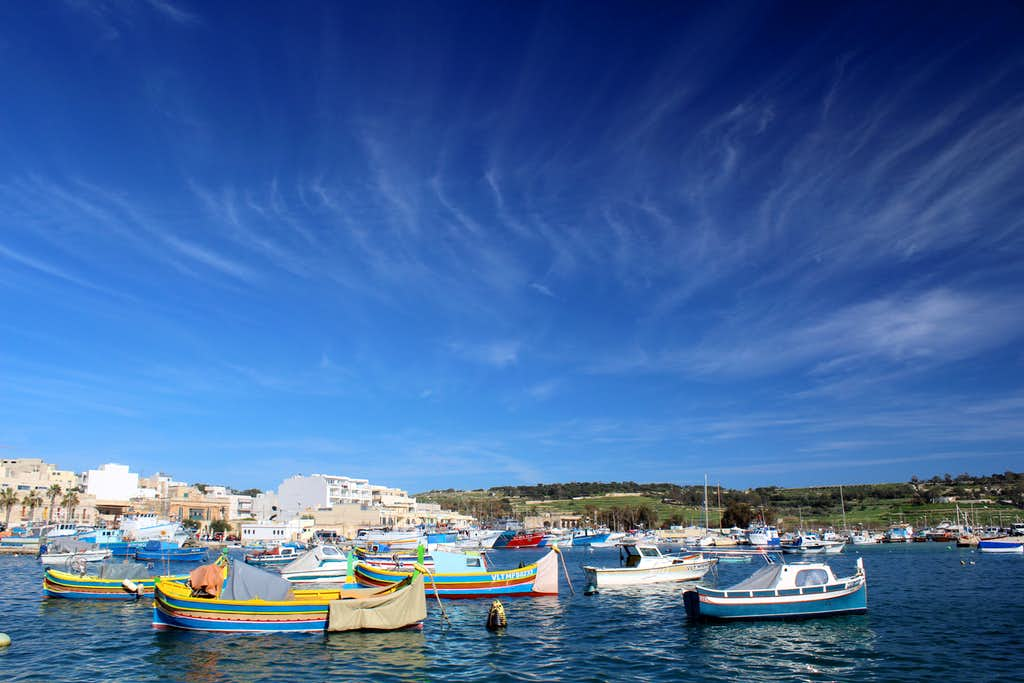 Hiking Malta's coastal paths. Marsaxlokk