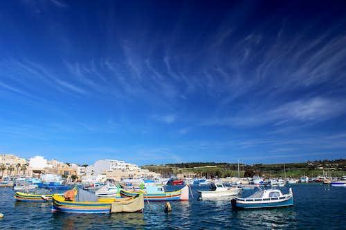 Hiking Malta's coastal paths. Marsaxlokk