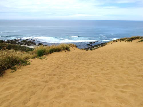 From top of a sand dune