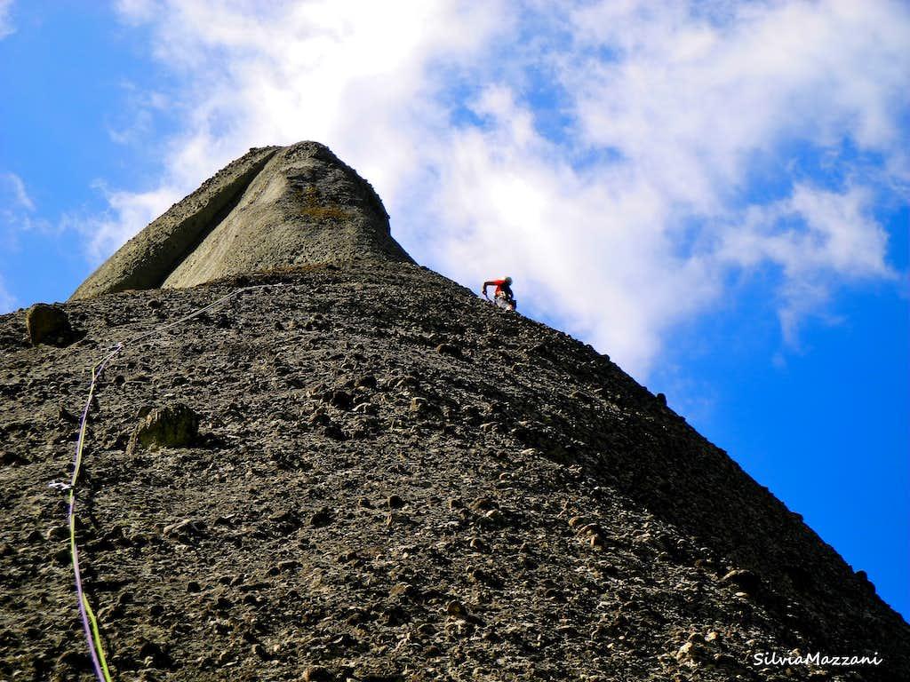 Great slabby climb on Hartetest, Kumarieskopf (Meteora)