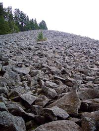 Rock field from where the...