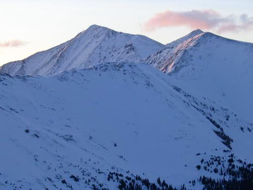 Torreys (left) and Grizzly...