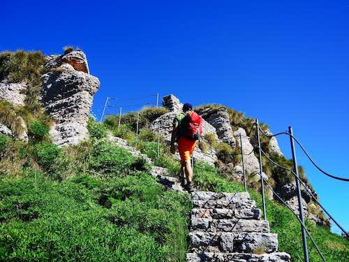 Monte Vignola - Corno della Paura traverse