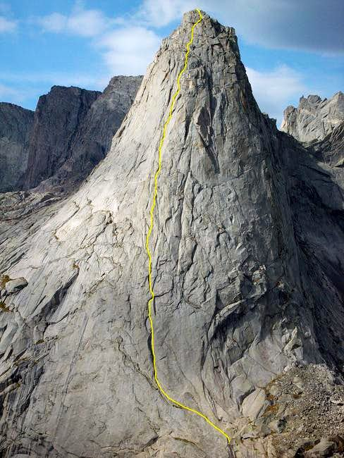 Pingora Peak\'s NE face in...