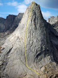 Pingora Peak's NE face in...