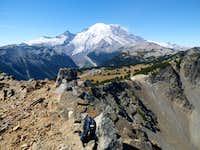 Mt. Rainier and Sunrise from Antler Peak