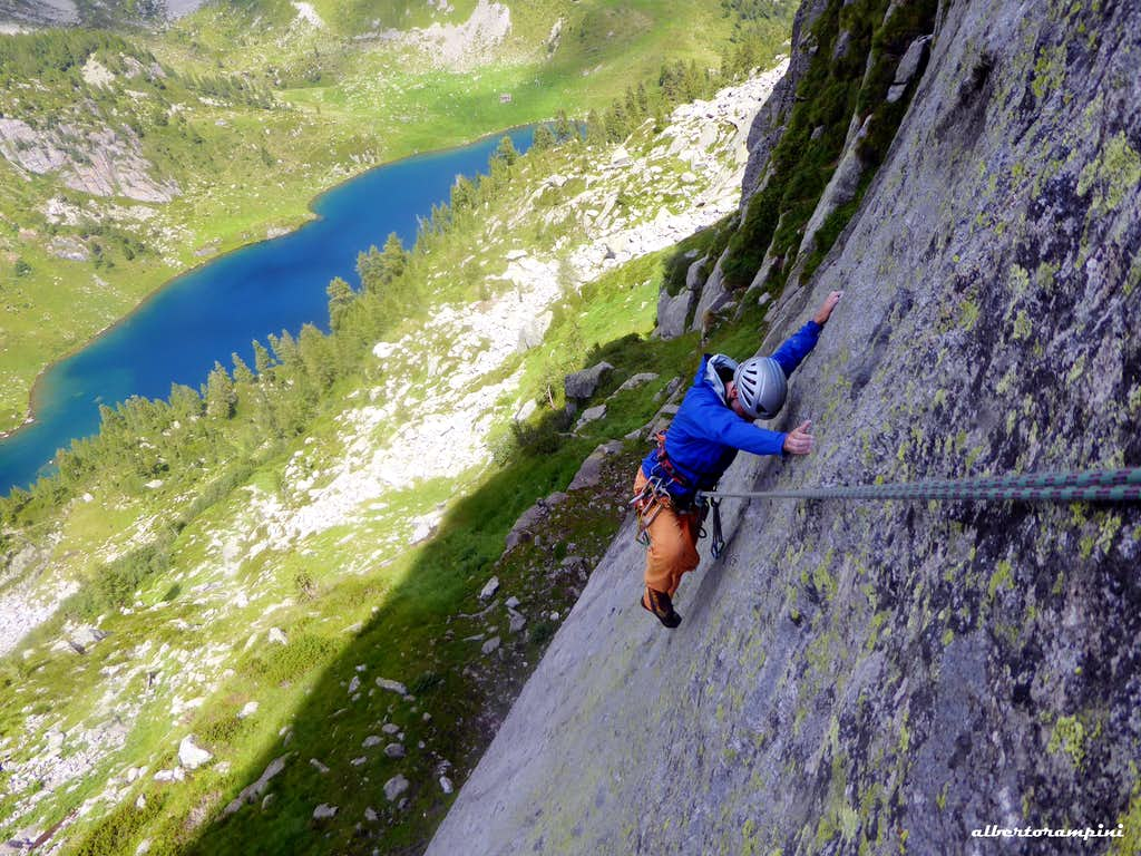 First pitch of the route Due neuroni e una sinapsi