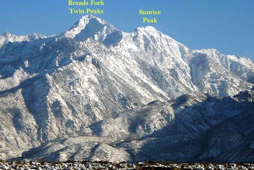 South face of Sunrise Peak...